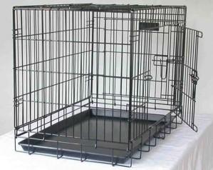 Hundbur i stål, Svart
